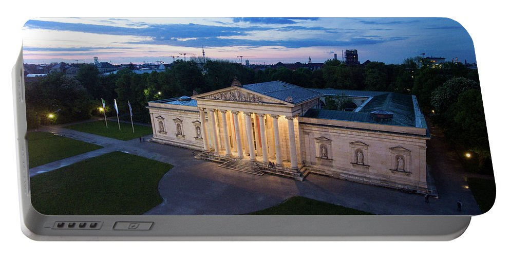 Bavaria Portable Battery Charger featuring the photograph Munich - Glypthothek by Hannes Cmarits