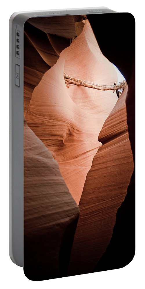 Slot Canyon Portable Battery Charger featuring the photograph Mupltiple Openings by Scott Sawyer