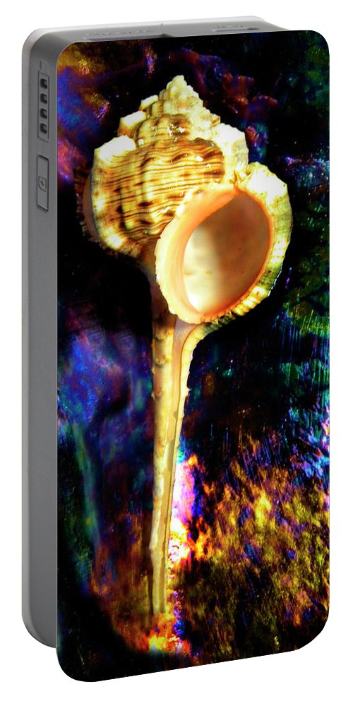 Frank Wilson Portable Battery Charger featuring the photograph Murex Haustellum Seashell by Frank Wilson