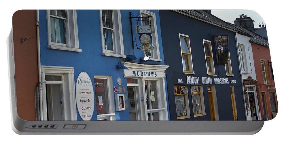 Irish Portable Battery Charger featuring the photograph Murphys Ice Cream Dingle Ireland by Teresa Mucha