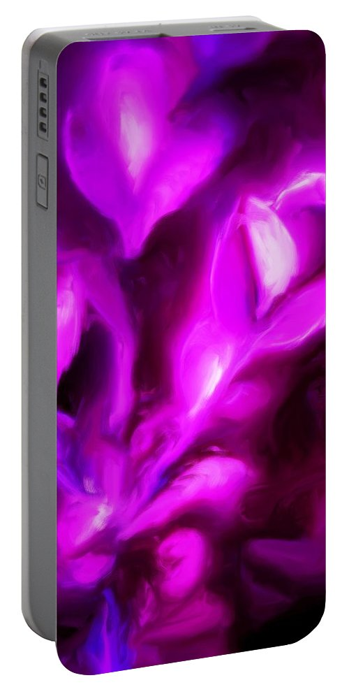 Fine Art Portable Battery Charger featuring the digital art Muses by David Lane