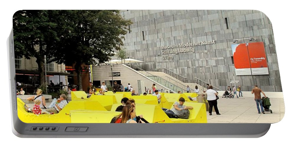 Museum Portable Battery Charger featuring the photograph Museum Modener Kunst by Ian MacDonald