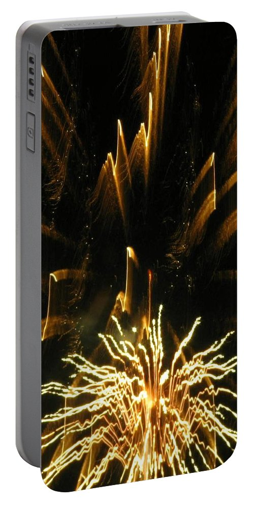 Fireworks Portable Battery Charger featuring the photograph Music To My Eyes by Rhonda Barrett