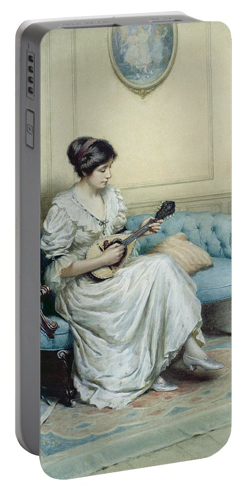 Musical Portable Battery Charger featuring the painting Musical Interlude by William Kay Blacklock