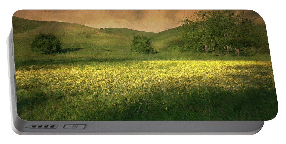 Landscape Portable Battery Charger featuring the photograph Mustard Grass by Laura Macky