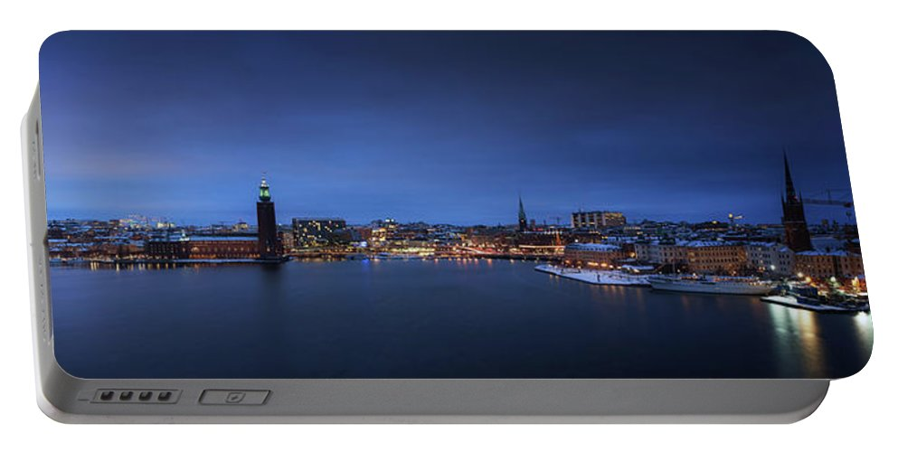 Riddarfj�rden Portable Battery Charger featuring the photograph My City Stockholm by Mikael Jenei