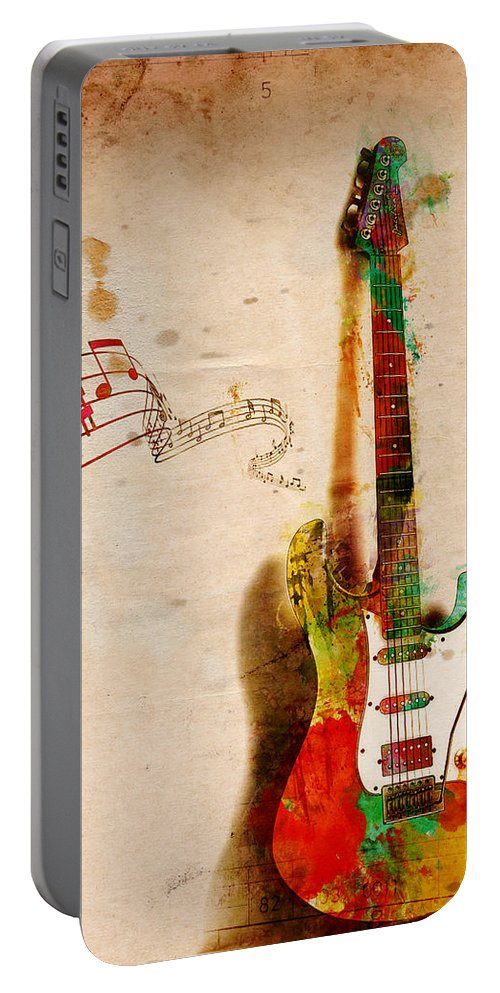 Guitar Portable Battery Charger featuring the digital art My Guitar Can SING by Nikki Smith