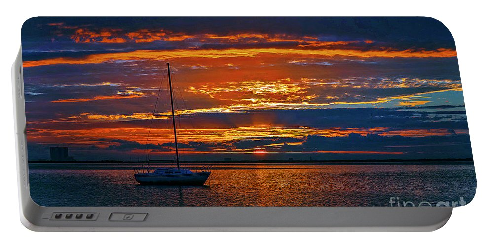 Sunrise Portable Battery Charger featuring the photograph My Last Sunrise At 56 by Davids Digits