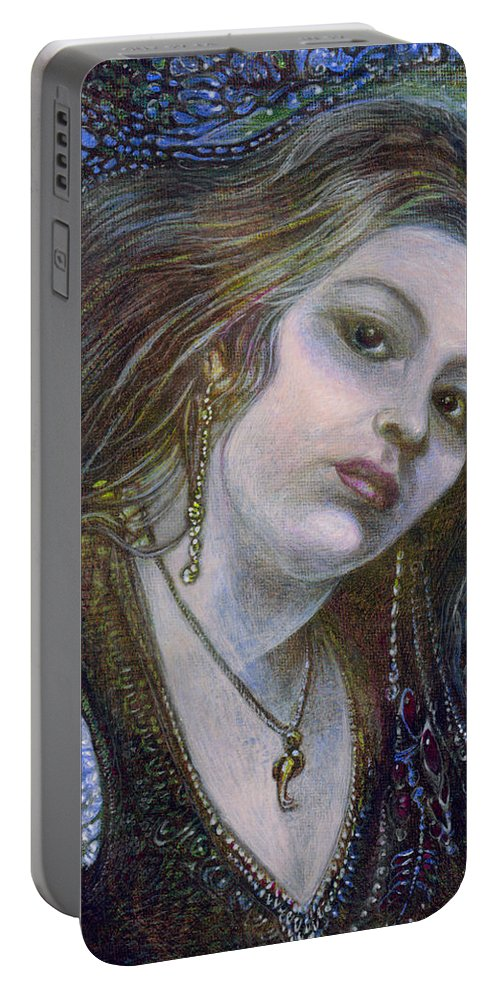 Fantasy Portable Battery Charger featuring the painting My Mermaid Christan by Otto Rapp