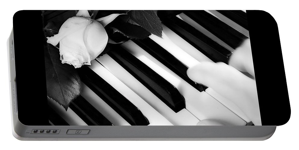 Piano Portable Battery Charger featuring the photograph My Piano Bw Fine Art Photography Print by James BO Insogna