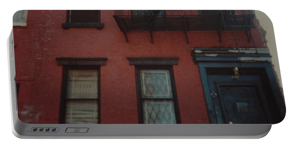 Lower East Side Portable Battery Charger featuring the photograph My Pops First Home In The United States by Rob Hans