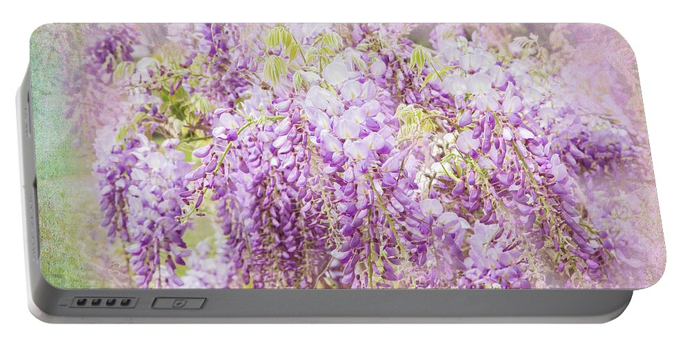 Wisteria Portable Battery Charger featuring the photograph My Romance by Marilyn Cornwell