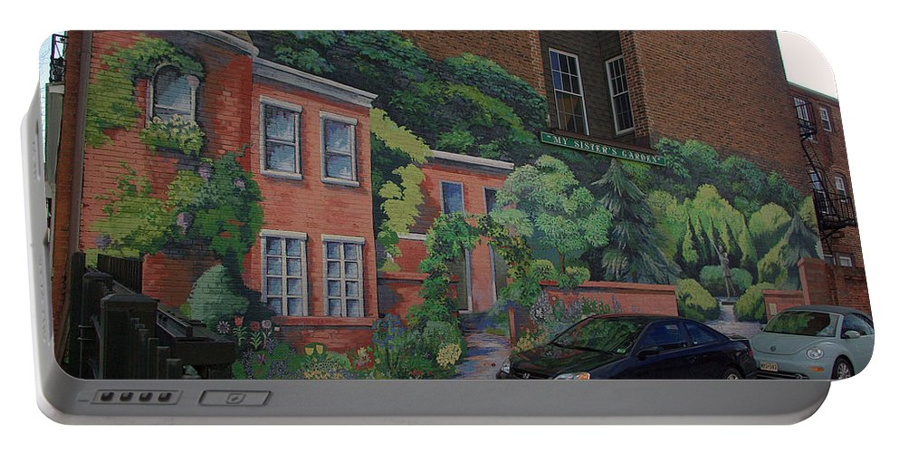 2d Portable Battery Charger featuring the photograph My Sisters Garden by Brian Wallace