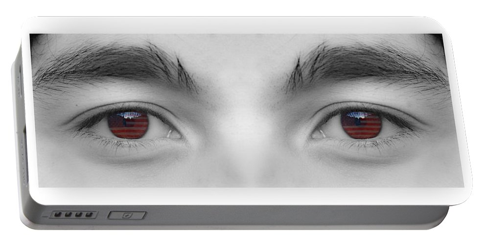 Eyes Portable Battery Charger featuring the photograph My Son's Eyes by James BO Insogna