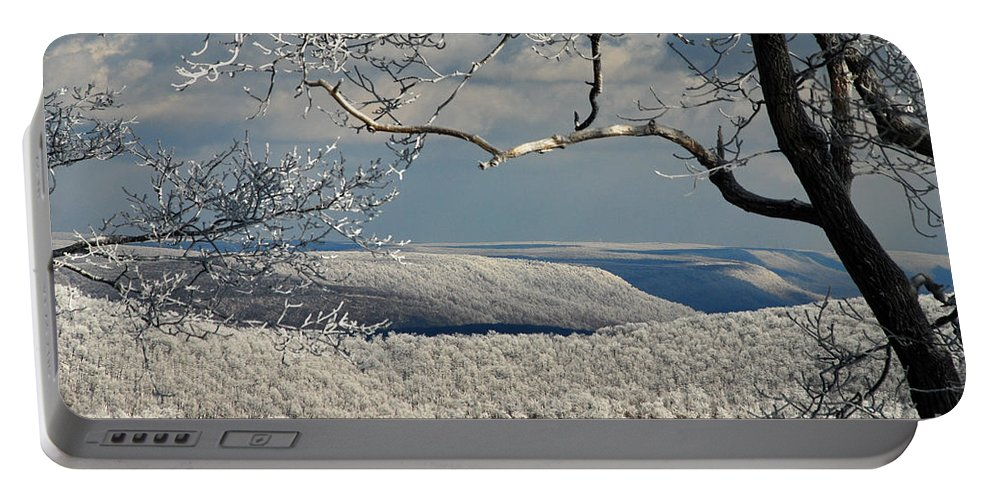 Winter Portable Battery Charger featuring the photograph My Sunday by Lois Bryan