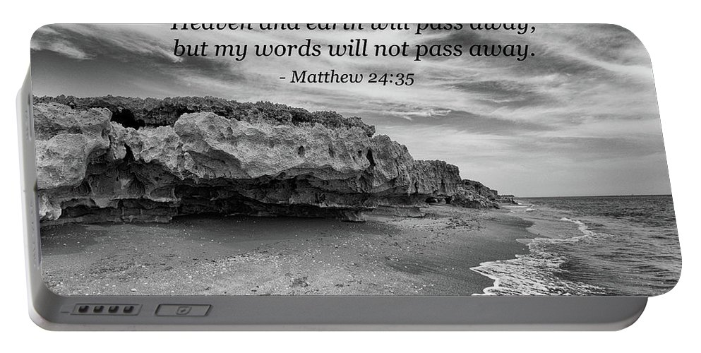 Landscape Portable Battery Charger featuring the photograph My Words Will Not Pass Away by Kim Warden