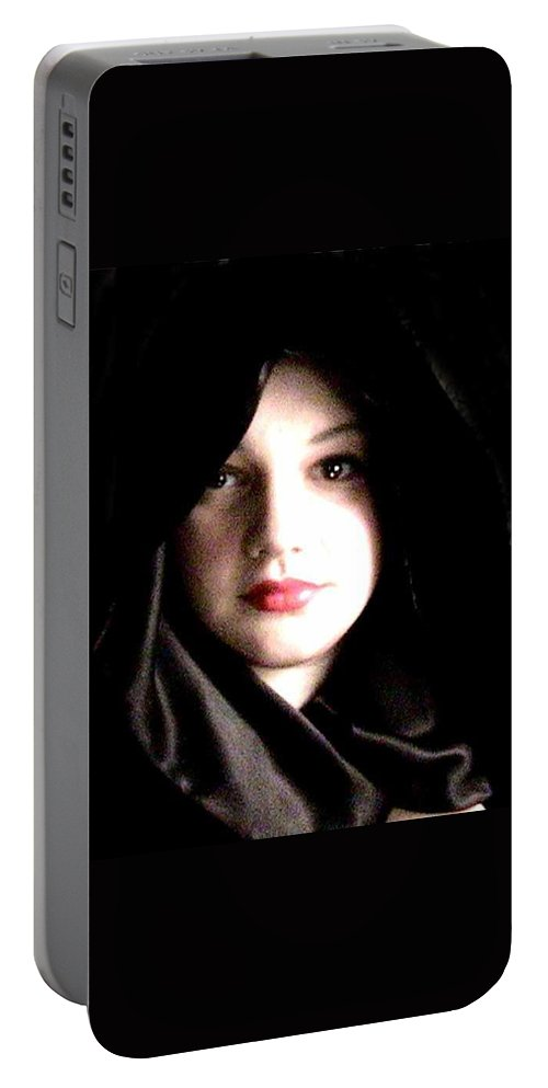 Self Photo Portable Battery Charger featuring the photograph Myself by Scarlett Royal
