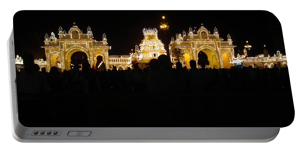 Mysore Portable Battery Charger featuring the photograph Mysore Palace 2 by Usha Shantharam