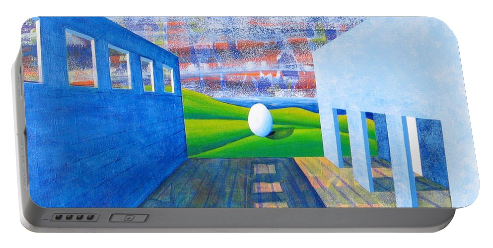 Surrealism Portable Battery Charger featuring the painting Mystery And Memory by Rollin Kocsis