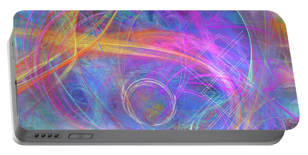 Mystic Beginning Portable Battery Charger featuring the digital art Mystic Beginning by John Beck