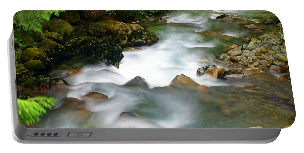 Creek Portable Battery Charger featuring the photograph Mystic Creek by Marty Koch