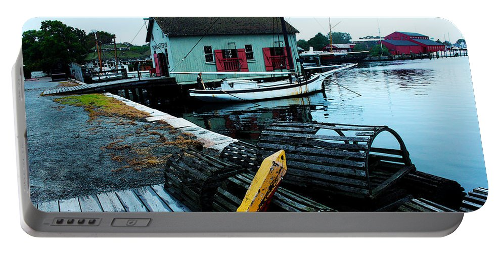 Mystic Seaport Portable Battery Charger featuring the photograph Mystic Seaport #2 by Susan Vineyard