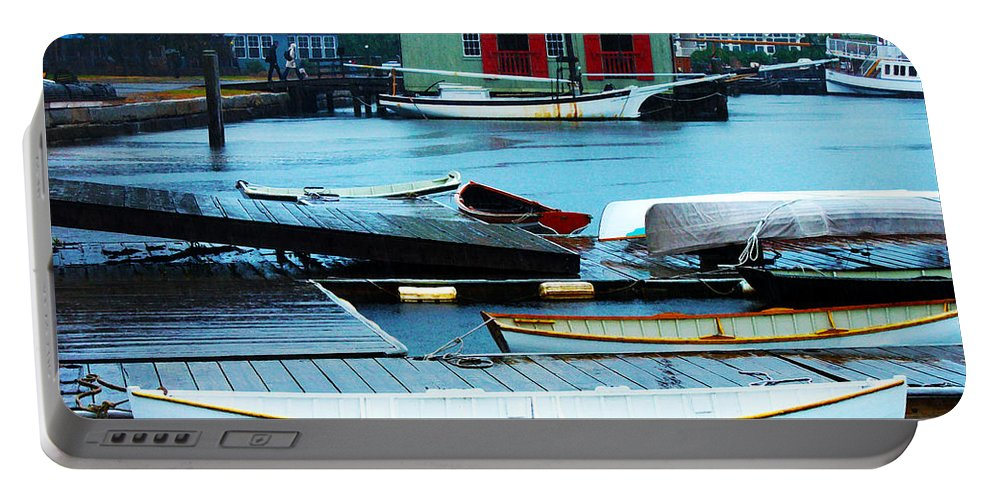 Mystic Seaport Portable Battery Charger featuring the photograph Mystic Seaport #5 by Susan Vineyard