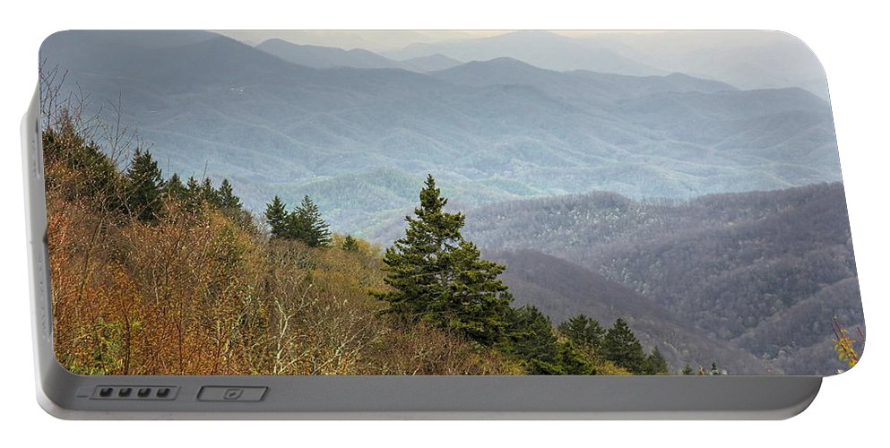Photographs Portable Battery Charger featuring the photograph Blue Ridge Mountain 3 by Felix Lai
