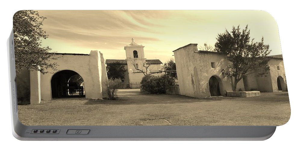 Landscape Portable Battery Charger featuring the photograph Mystical Chapel by Lynn Wist