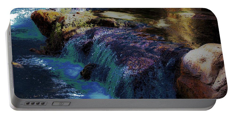 Springs Portable Battery Charger featuring the photograph Mystical Springs by DigiArt Diaries by Vicky B Fuller