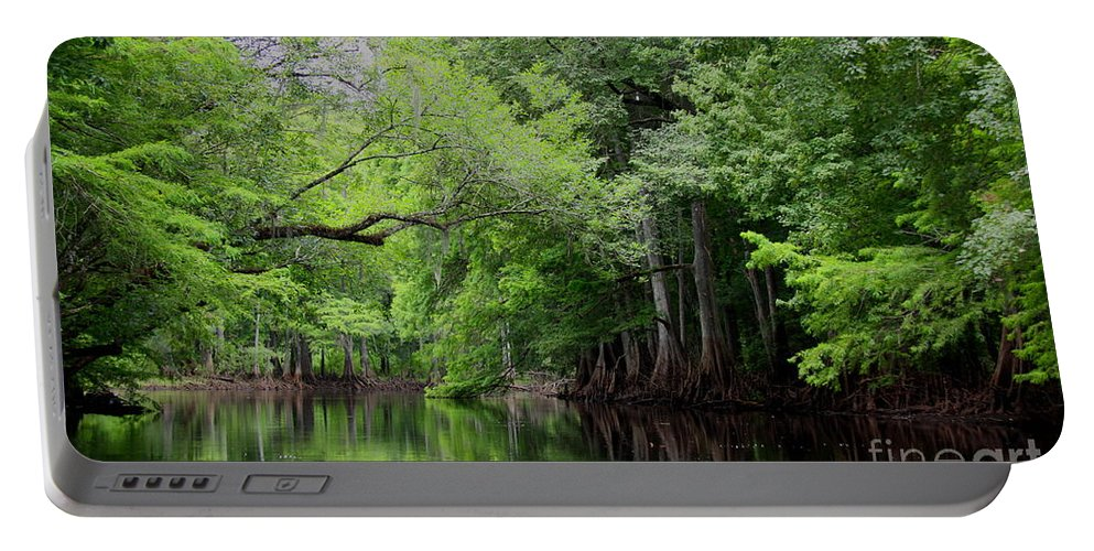 Withlacoochee River Portable Battery Charger featuring the photograph Mystical Withlacoochee River by Barbara Bowen