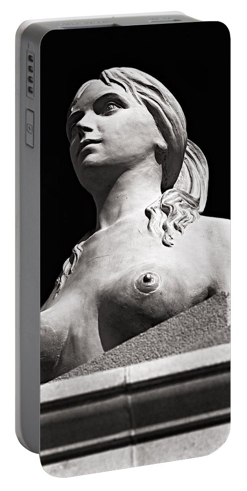 Christopher Holmes Photography Portable Battery Charger featuring the photograph Mythical Beauty - Bw by Christopher Holmes