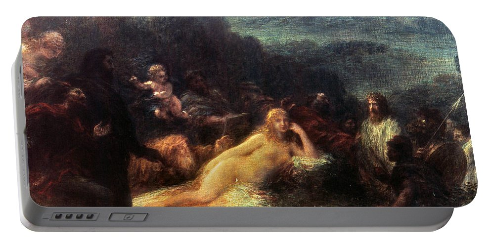 1892 Portable Battery Charger featuring the painting Mythology: Helen Of Troy by Granger