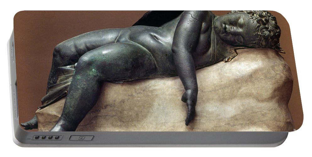 2nd Century B.c. Portable Battery Charger featuring the photograph Mythology: Sleeping Eros by Granger
