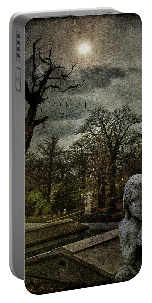 Necropolis Portable Battery Charger featuring the photograph N E C R O P O L I S by Chris Lord