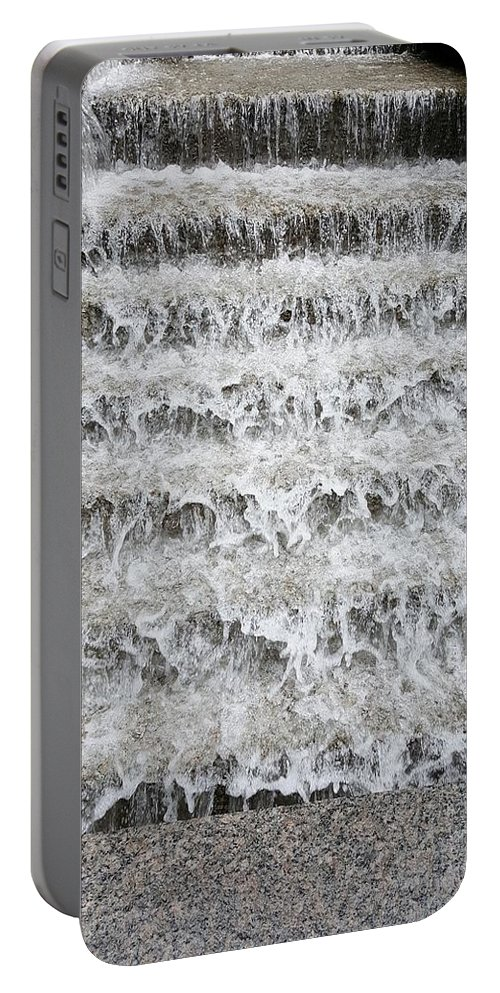 Waterfall Portable Battery Charger featuring the photograph N Y C Waterfall by Rob Hans