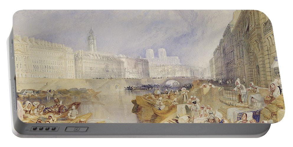 Nantes Portable Battery Charger featuring the painting Nantes by Joseph Mallord William Turner