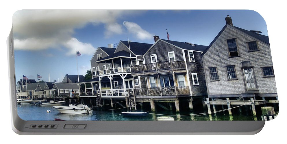 Nantucket Portable Battery Charger featuring the photograph Nantucket Harbor In Summer by Tammy Wetzel