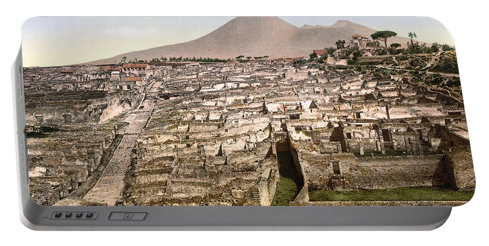 1890 Portable Battery Charger featuring the photograph Naples: Mt. Vesuvius by Granger