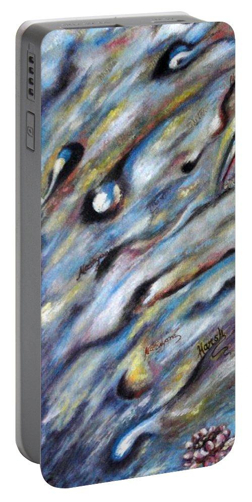 Narad Portable Battery Charger featuring the painting Narada Muni by Harsh Malik