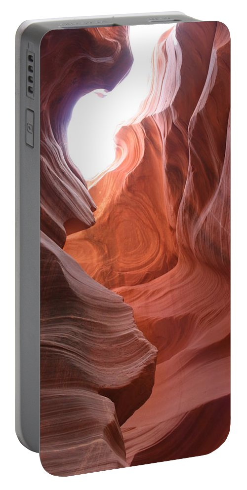 Red Canyon Portable Battery Charger featuring the photograph Narrow Canyon Xvii by Christiane Schulze Art And Photography