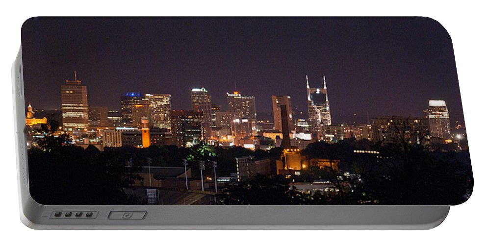 Nashville Portable Battery Charger featuring the photograph Nashville Cityscape 2 by Douglas Barnett