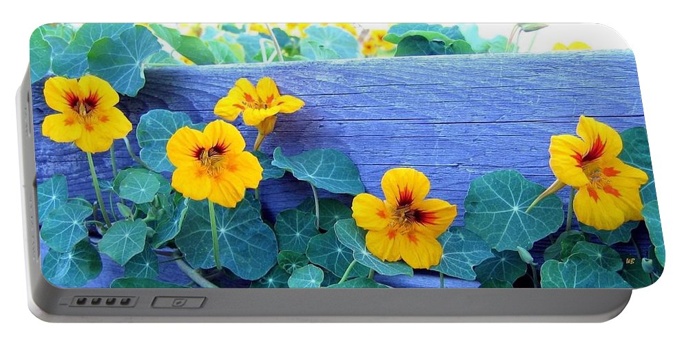 Nasturtiums Portable Battery Charger featuring the photograph Nasturtium Box by Will Borden