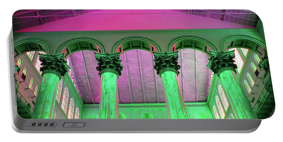 National Portable Battery Charger featuring the photograph National Column Green by Jost Houk