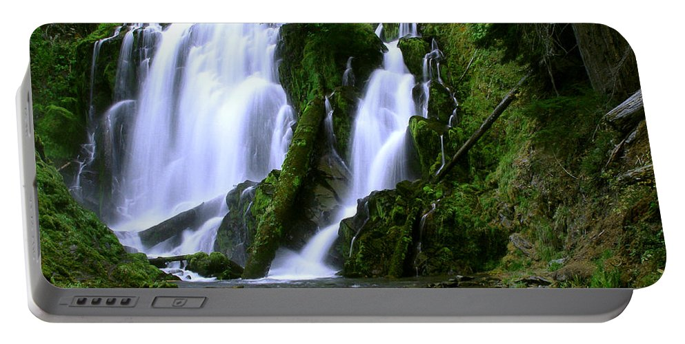 Waterfall Portable Battery Charger featuring the photograph National Creek Falls 02 by Peter Piatt
