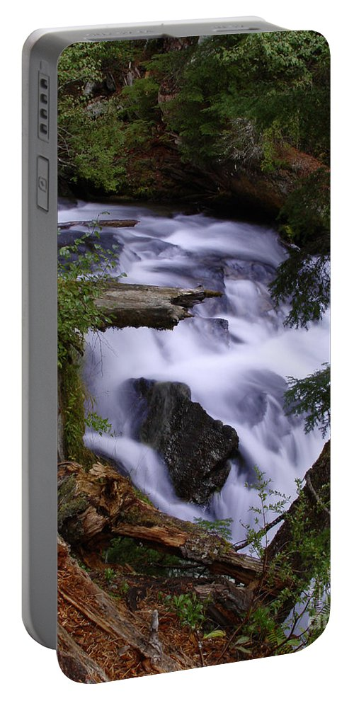 Waterfall Portable Battery Charger featuring the photograph National Creek Falls 03 by Peter Piatt