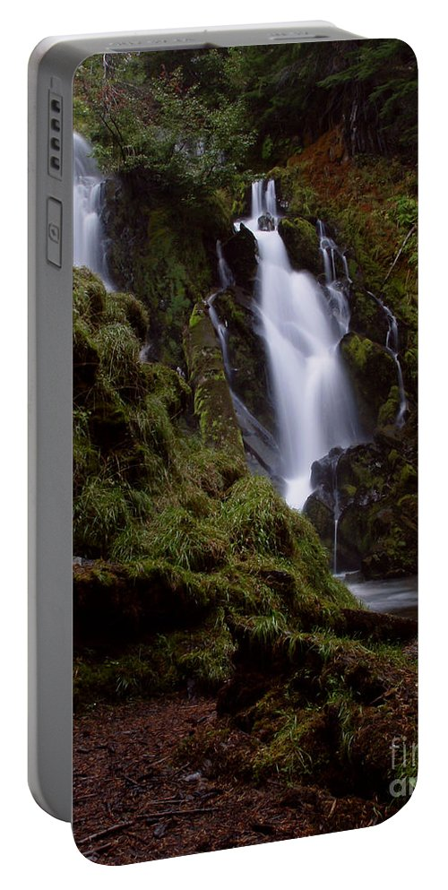 Waterfall Portable Battery Charger featuring the photograph National Creek Falls 04 by Peter Piatt