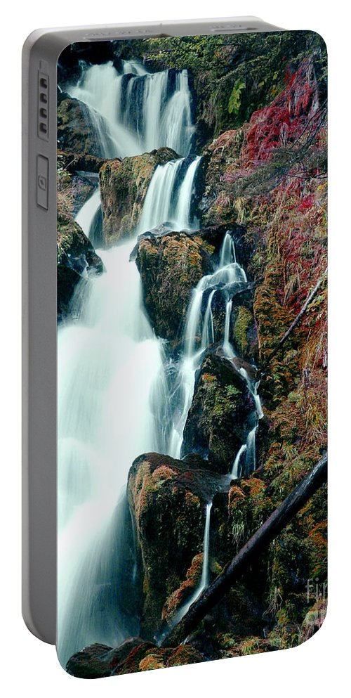 Waterfall Portable Battery Charger featuring the photograph National Creek Falls 07 by Peter Piatt
