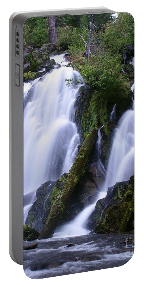Waterfall Portable Battery Charger featuring the photograph National Creek Falls 09 by Peter Piatt