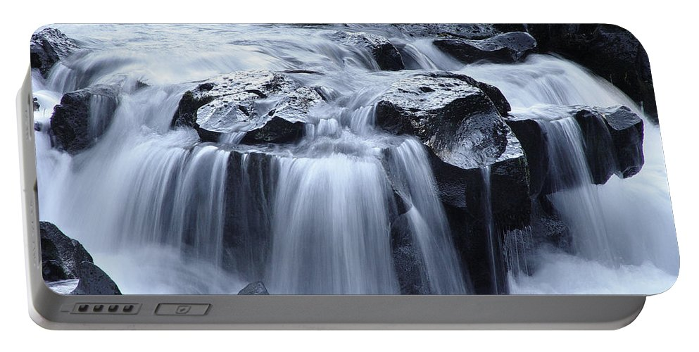 Waterfall Portable Battery Charger featuring the photograph Natural Bridges Falls 02 by Peter Piatt